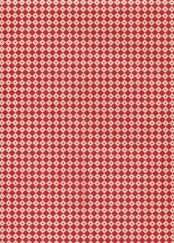 Lokta géométrique rouge fond naturel (50x75)