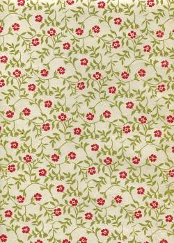 Lokta fleur rouge feuillage vert fond naturel (50x75)