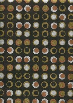 Lokta pastilles or argent et cuivre fond noir (50x75)