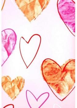 Coeurs rose saumon (70x100)