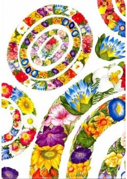 Frises ovales de fleurs (45x65)