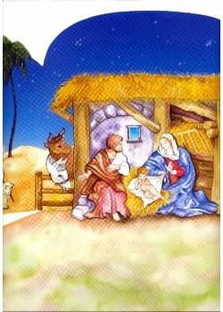 La crèche de Noël (45x65)