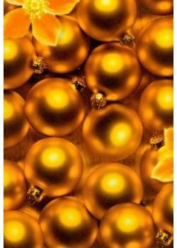 Boules de Noël cuivrées (70x100)