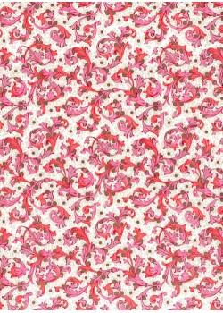 Venise - rose et rouge réhaussé or (70x100)