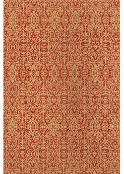 Miniature rouge fond jute (50x70)