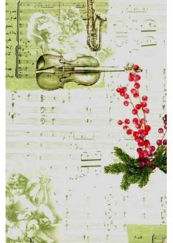 Angelot musique et violon (70x100)*