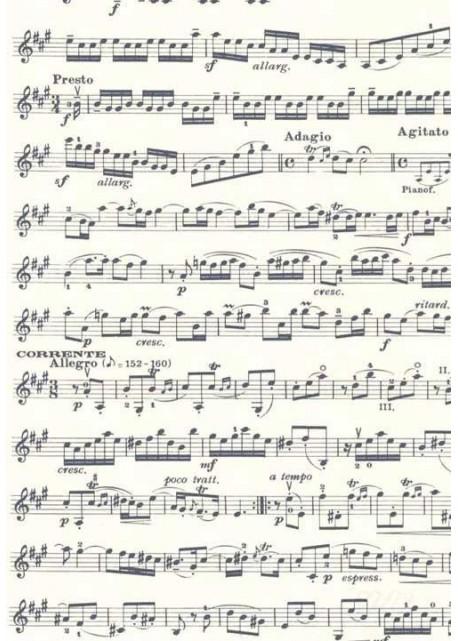 Musique bleu marine (70x100)
