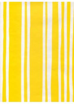 Rayures blanches fond jaune (70x100)