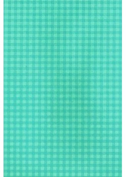Baby doll vichy 2 tons bleu turquoise (50x70)