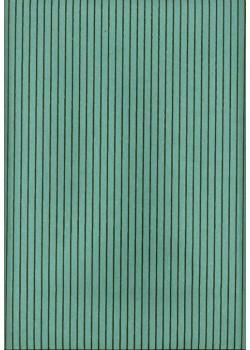 Rayures marron fond turquoise (50x70)
