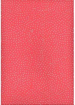Petits pois blanc fond rose (50x70)