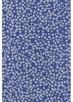 Sakura blanc fond bleu (50x70)