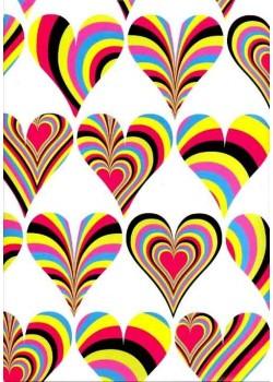 Coeurs psychédéliques (50x70)