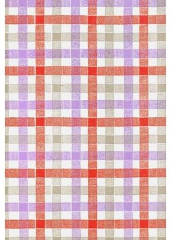 Ecossais rouge, gris et violet (66x100)