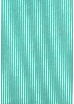 Rayures blanc fond turquoise (50x70)
