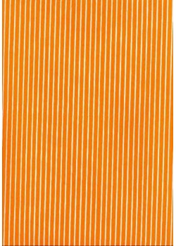 Rayures blanc fond orange (50x70)
