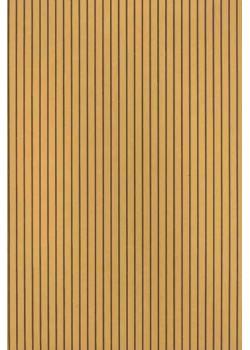 Rayures marron foncé fond camel (50x70)*
