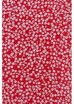 Sakura blanc fond rouge (50x70)