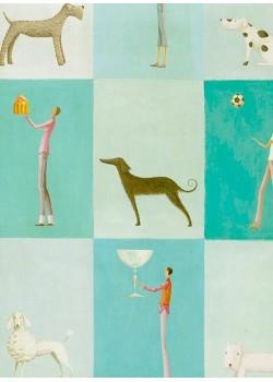 Patchwork personnages et chiens (50x70)*