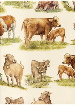Les vaches au pré (70x100)