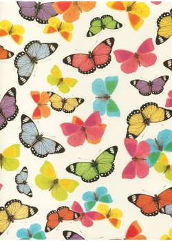 Papillons multicolores (70x100)