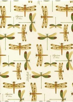 Planche de libellules réhaussée or (70x100)