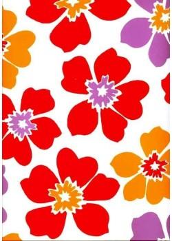 Style rouge fleurs printemps (70x100)