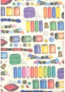 Bobines et fils de couture (70x100)