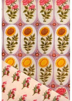 """Recto verso """"Ovales de fleurs / semis"""" (50x70)"""