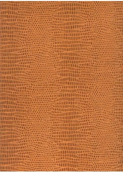 Papier imitation Iguane marron et orange (65x100)