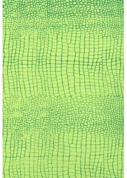 "Papier imitation Croco ""vert clair et vert foncé"" (70x100)"