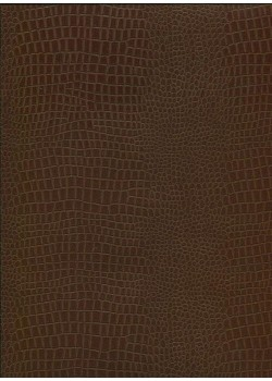 "Papier imitation Croco ""marron"" (70x100)"
