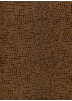 "Papier imitation Croco ""marron clair"" (70x100)"