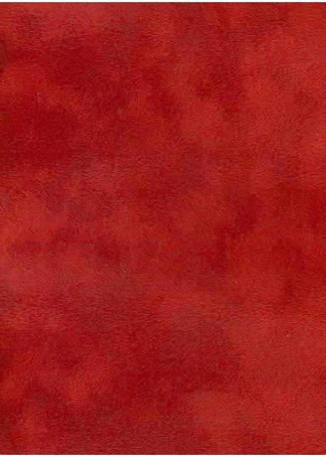 Simili cuir velours Pelage rouge cerise (70x100)