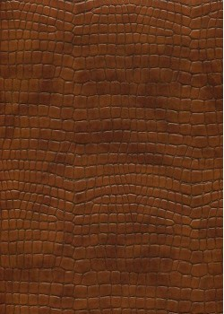 "Simili cuir ""Alligator"" brun (70x100)"
