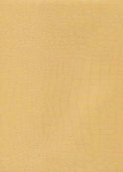 "Simili cuir ""Fiesta"" motif croco beige (70x100)"