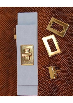 Serrure tourniquet rectangle or (30x20mm)