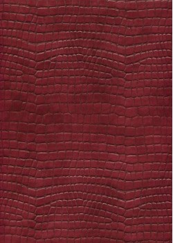 "Simili cuir ""Alligator"" rouge de Chine (70x100)"