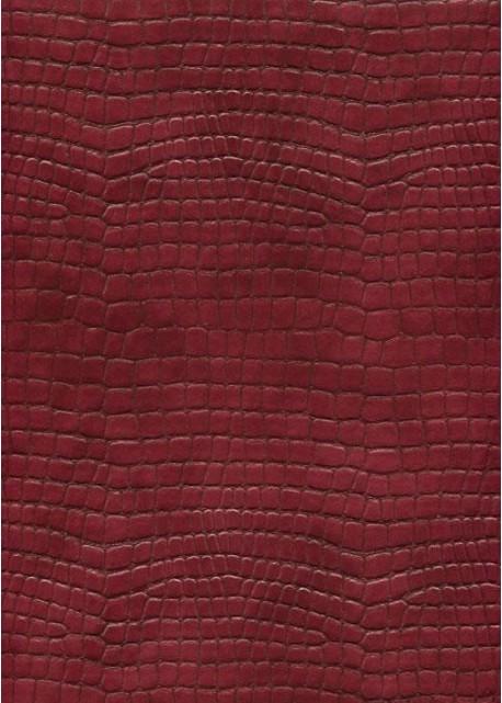 "Simili cuir ""Alligator"" rouge de Chine (70x100)"