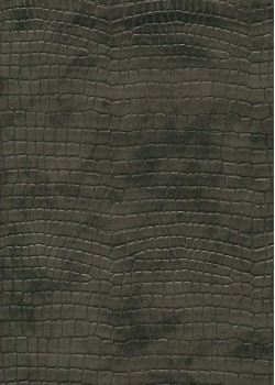 "Simili cuir ""Alligator"" gris fumé (70x100)"