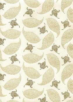 """""""Florence"""" Caravage plumes beiges et marrons (50x70)"""