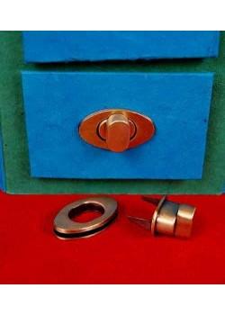 Serrure tourniquet ovale bronze (38x22mm)