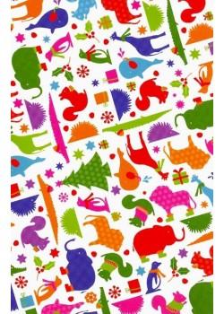NOEL EN BLANC l'hiver des animaux (70x100)