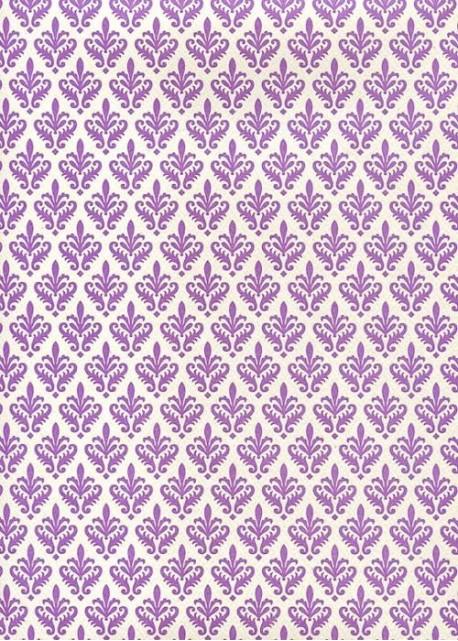 """""""Florence"""" Tiepolo fleurs de lys mauves (50x70)"""