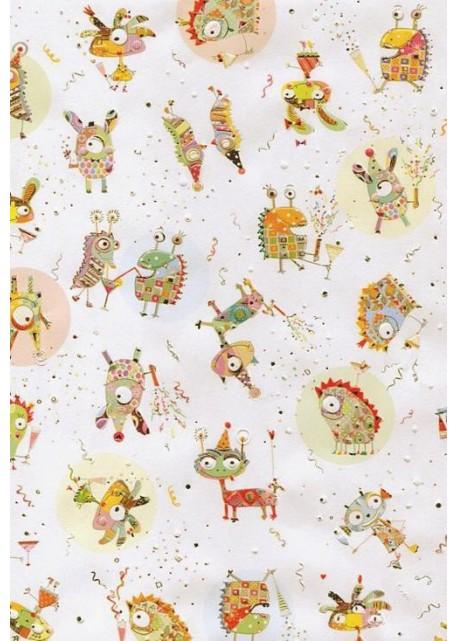 Papier Turnowsky les petits monstres réhaussés argent (50x70)