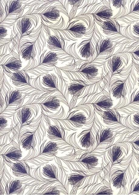 """""""Florence"""" Caravage plumage bleu (50x70)"""