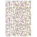 """Florence"" Tiepolo fleurs mauves (50x70)"