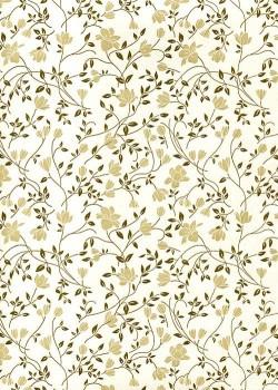 """Florence""Tiepolo fleurs beiges (50x70)"