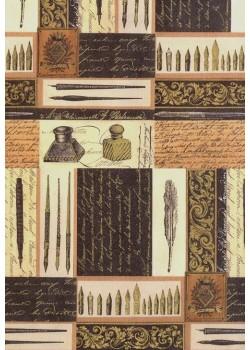 """""""Tosca"""" L'écriture réhaussée or (70x100)"""