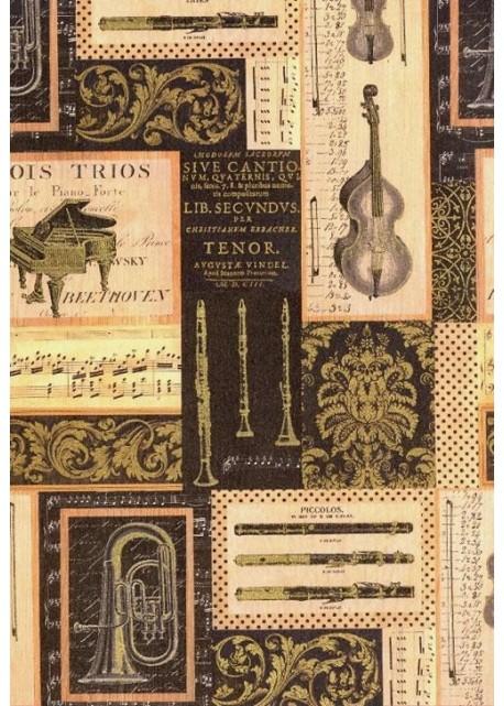 """""""Tosca"""" Le concert réhaussé or (70x100)"""